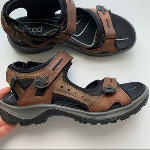 Ecco Comfort Sandal Velcro Yucatan Style Women's 8